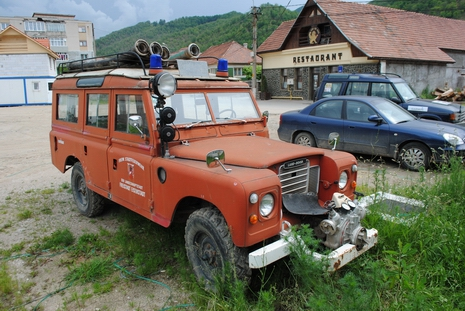 Strażacki Land Rover