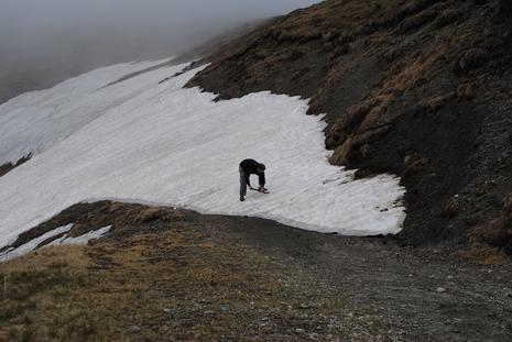 Śnieg na szlaku