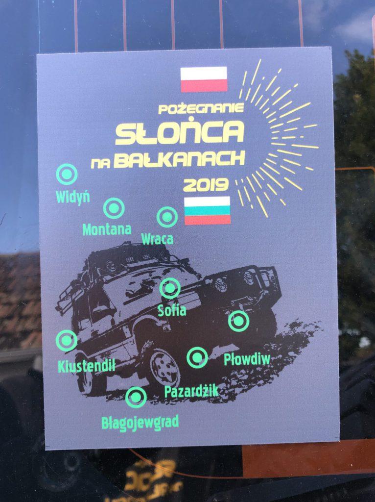 Naklejka wyprawy Pożegnanie słońca na Bałkanach 2019 - Bułgaria
